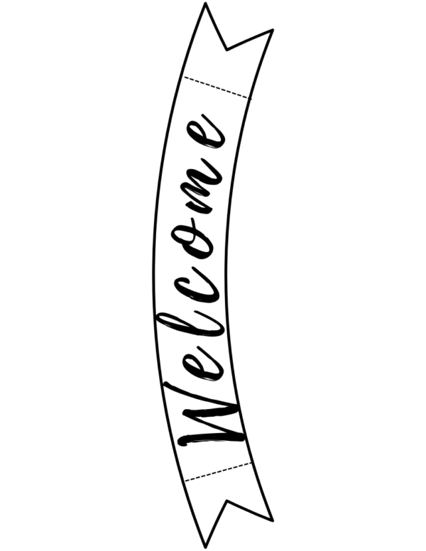 printable, welcome banner